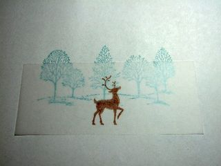 Stamp on vellum