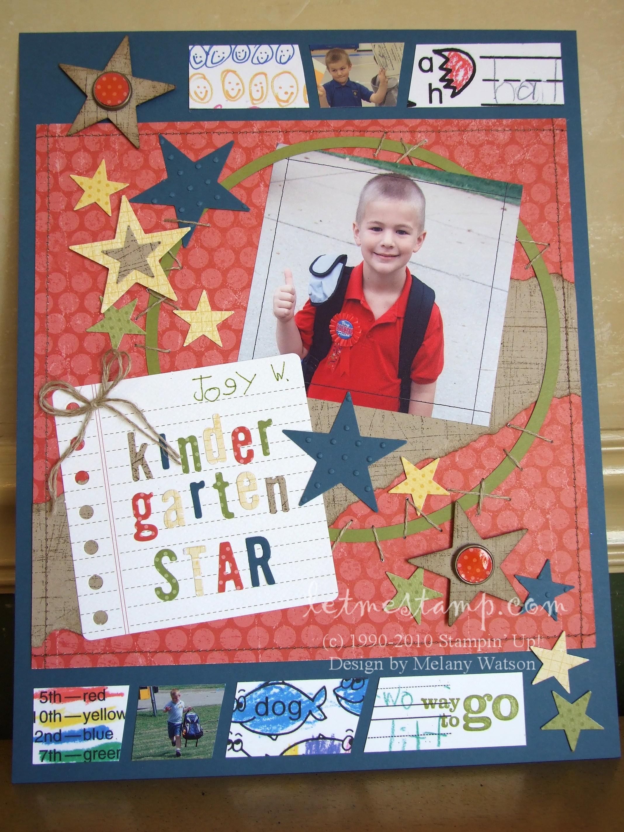 Scrapbook ideas school - K Star Layout
