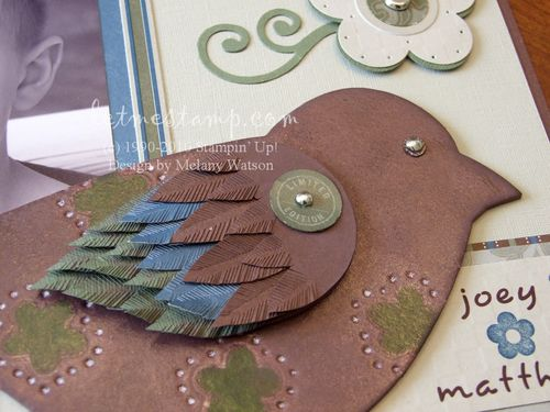 Faux Leather Bird by Melany Watson