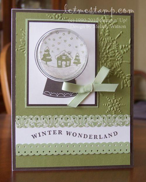 Sweet Snowglobe Card by Melany Watson