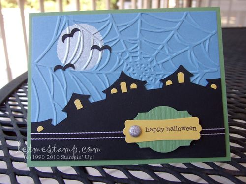 Haunted Hilltop Card by Melany Watson