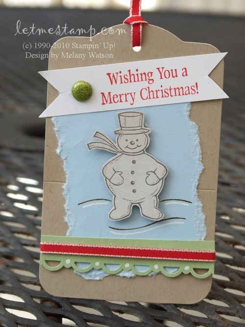 Snowman Tag by Melany Watson