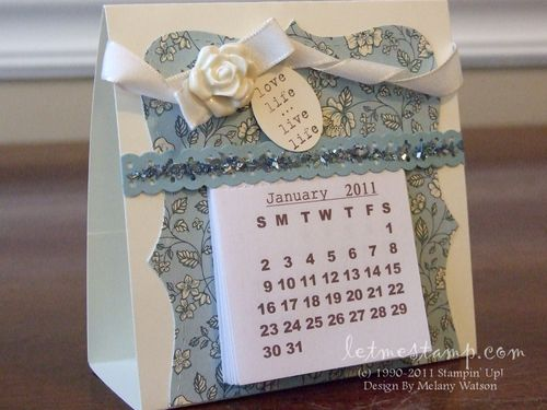 2011 Mini Desk Calendar2 by Melany Watson