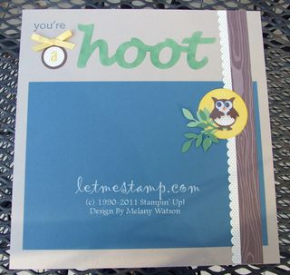 A Hoot Right by Melany Watson