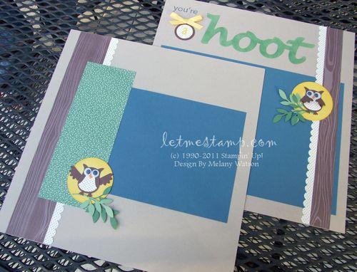 A Hoot Layout by Melany Watson