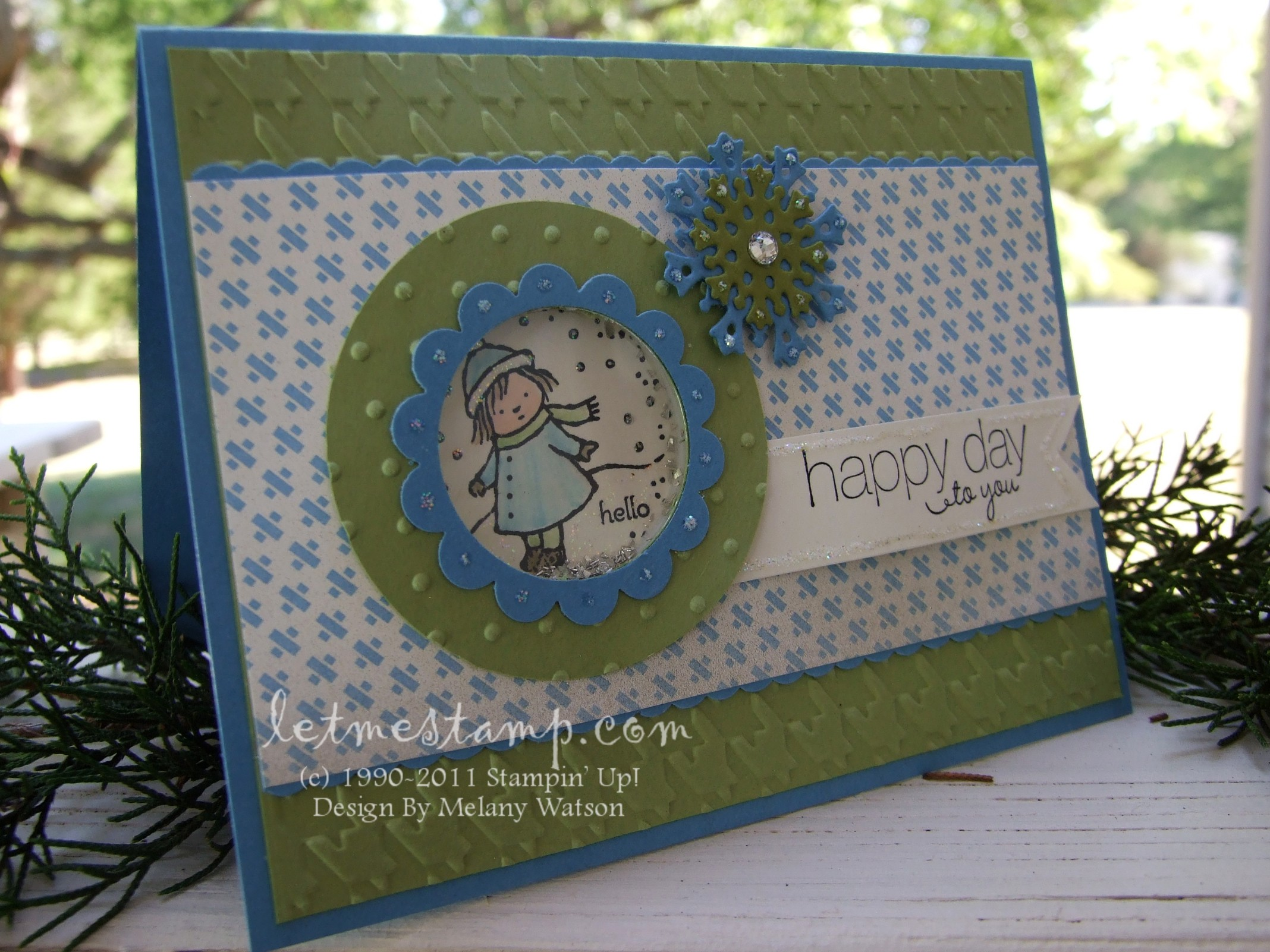 Let me stamp gift givers shaker card gift givers shaker card by melany watson negle Images