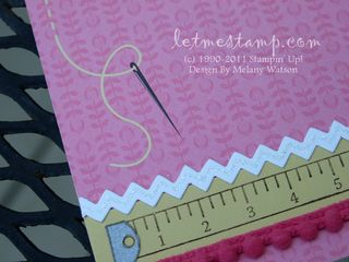 Sweet Stitches Pink 6x6 CU  by Melany Watson