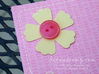 Sweet Stitches Pink 6x6 Button by Melany Watson