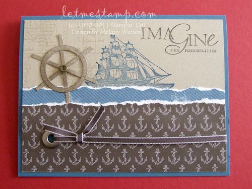 Ships Wheel Card  by Melany Watson