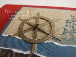 Ships Wheel Card CU by Melany Watson