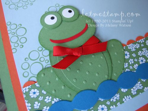 Summer Frog Left CU by Melany Watson