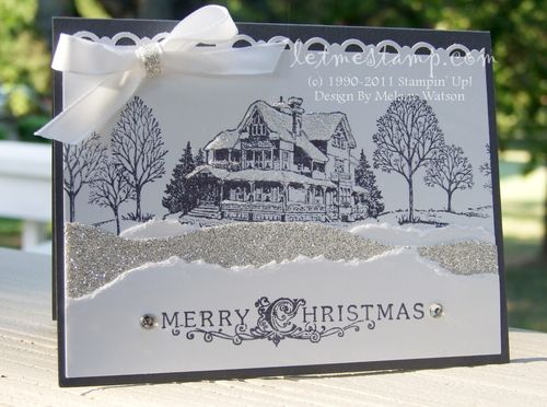 Christmas Lodge Card by Melany Watson