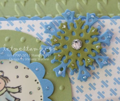 Gift Givers Shaker Card Snowflake  by Melany Watson