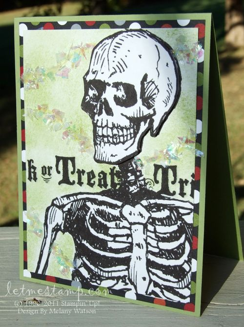 Spooky Skeleton Card by Melany Watson